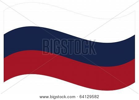 Vector flag. Russia