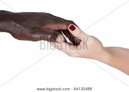 Black And Caucasian Hands