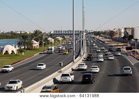 City Highway In Abu Dhabi