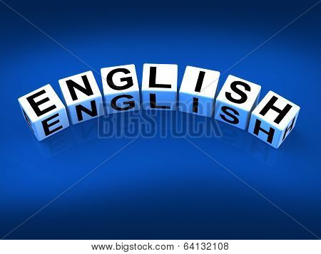 English Blocks Refer To Speaking And Writing Vocabulary From Eng