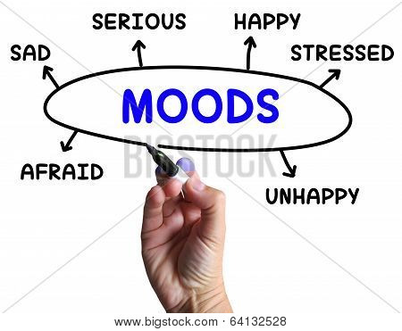 Moods Diagram Means Emotions And State Of Mind