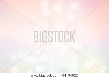 Abstract Pastel Defocused Lights Background. Twinkled Bright Background With Bokeh Defocused Golden