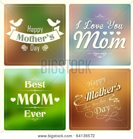 illustration of Happy Mothers Day card template