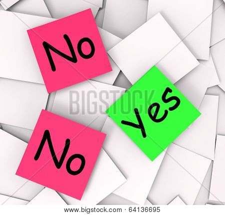 Yes No Notes Mean Answers Affirmative Or Negative