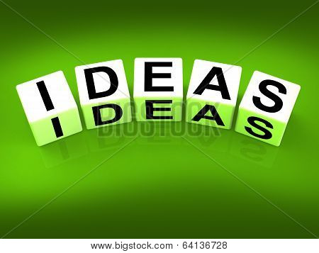 Ideas Blocks Mean Thoughts Thinking And Perception