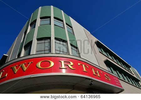 F. W. Woolworth Sign
