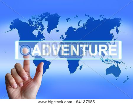 Adventure Map Represents International Or Internet Adventure And