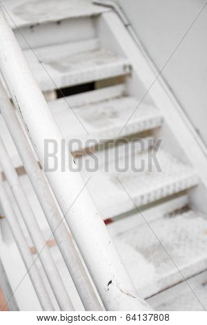 White Metal Staircase