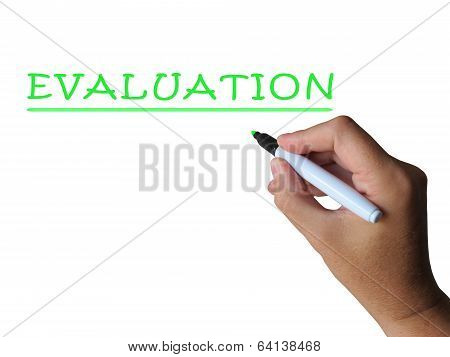Evaluation Word Means Assess Interpret And Judge
