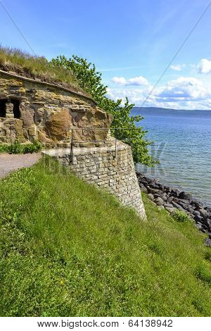 Nas castle ruins in Visingso, Sweden.