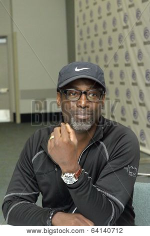 APRIL 19-ANAHEIM, CA:  Isaiah Washington arrives at the 2014 Annual Wondercon press room for