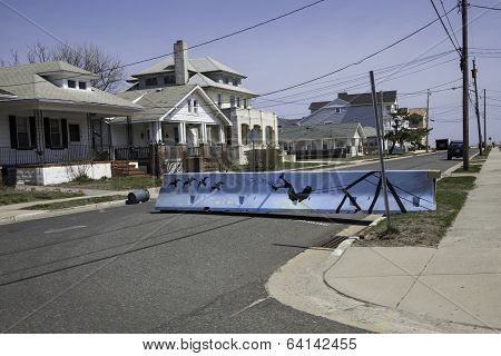 After Hurricane Sandy:  Belmar, New Jersey Road Closures