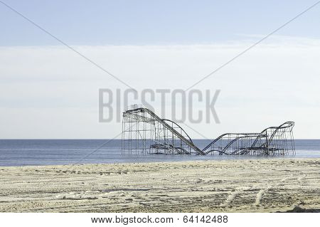 After Hurricane Sandy:  Seaside Heights, New Jersey Roller Coaster