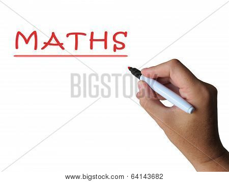 Maths On Whiteboard Means Mathematics Teaching Or Lesson