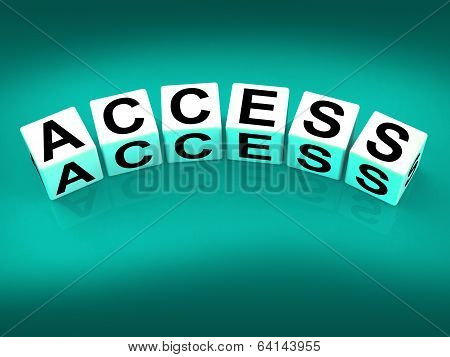 Access Blocks Show Admittance Accessibility And Entry