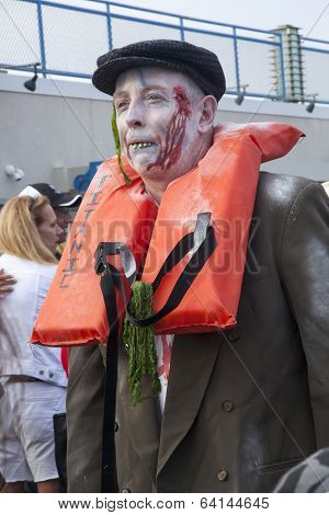 Asbury Park Zombie Walk 2013 - Titantic  Victim