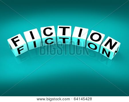 Fiction Blocks Show Fictional Tale Narrative Or Novel