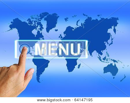 Menu Map Refers To International Choosing And Options