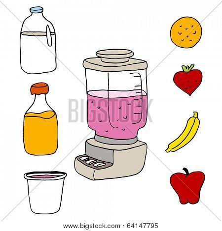 An image of a juice blender item set.