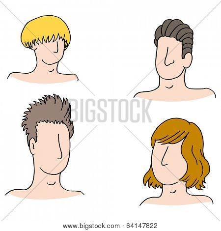 An image of hairstyles of different men.