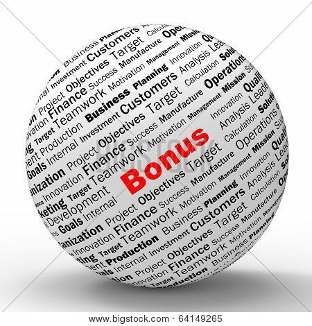 Bonus Sphere Definition Shows Financial Reward Or Benefit