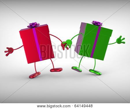 Presents Mean Receiving And Unwrapping Xmas Or Birthday Gift