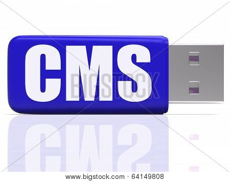 Cms Pen Drive Means Content Optimization Or Data Traffic