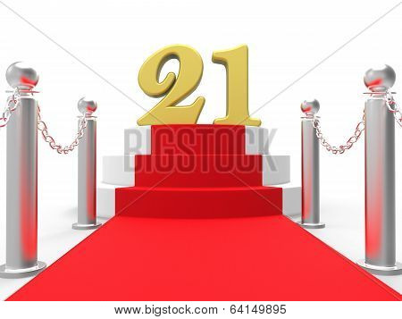 Golden Twenty One On Red Carpet Shows Entertainment Business Eve