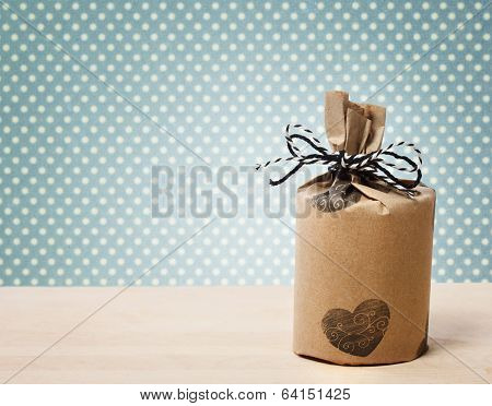 Present Wrapped In A Rustic Earthy Style