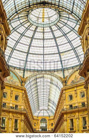 Milan, Vittorio Emanuele Ii Urban Gallery, Italian Architecture.