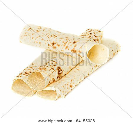 Lavash, Tortilla Wrap Bread. Isolated