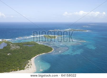 Aerial View Of Icacos And Lobos Island Puerto Rico