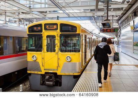 Seibu Shinjuku Line in Tokyo Japan