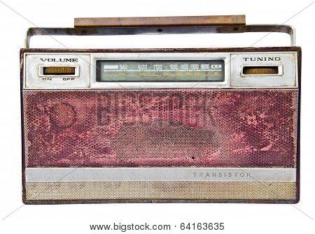 Old Radio, Isolated On White Background