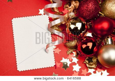 Decorations And Card