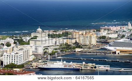 Aerial View Of Old San Juan Puerto Rico