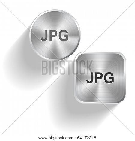 Jpg. Vector set steel buttons