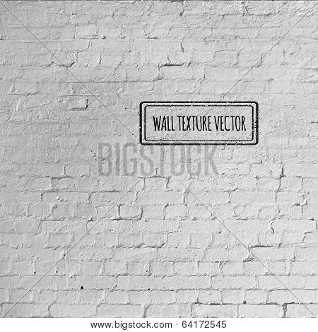 Vector Grunge brick wall texture