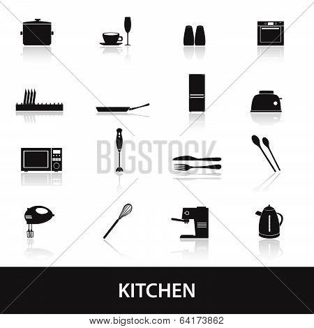 home kitchen icon eps10