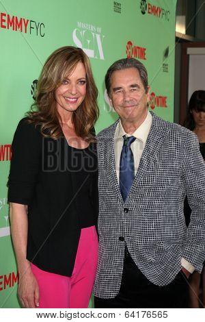 LOS ANGELES - APR 29:  Allison Janney, Beau Bridges at the