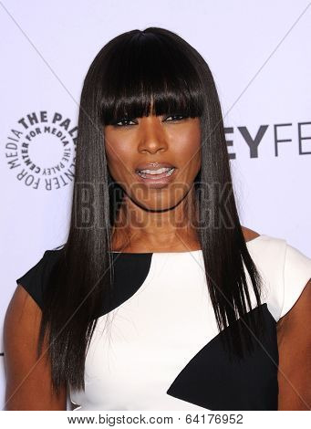 LOS ANGELES - MAR 28:  Angela Bassett arrives to the Paleyfest 2014: American Horror Story COVEN  on March 28, 2014 in Hollywood, CA