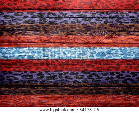 vintage wood background overlays leopard print