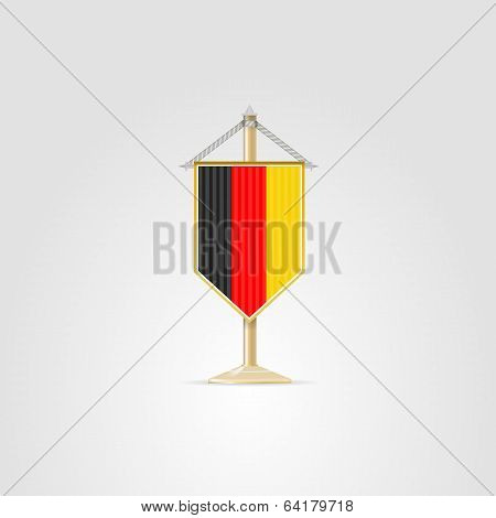 Illustration of national symbols of European countries. Germany.