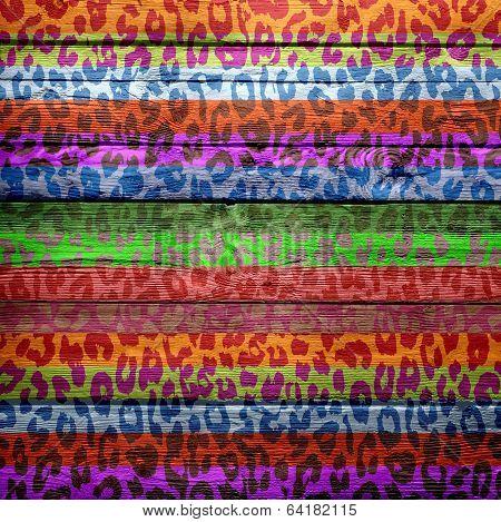 vintage wood background overlays leopard print for design