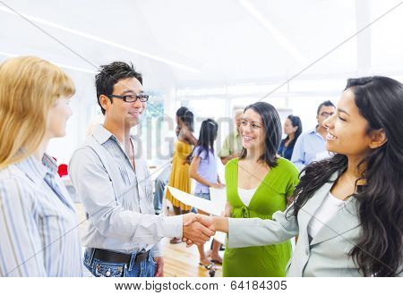 Corporate People Having a Business Agreement