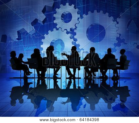 Group of Business People Meeting on Economic Recovery