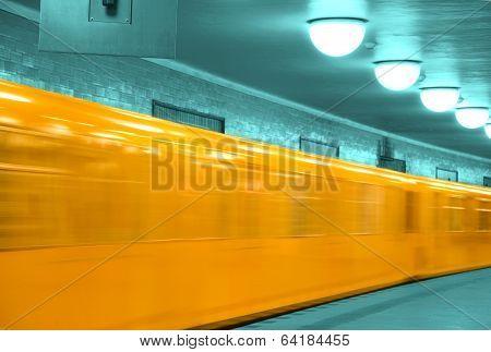 Abstract U-ban Train Berlin
