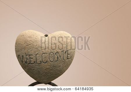 Isolated Welcome Sign