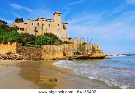 a view of Tamarit Castle, in Tarragona, Spain