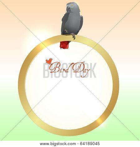 Bird Day  vector background